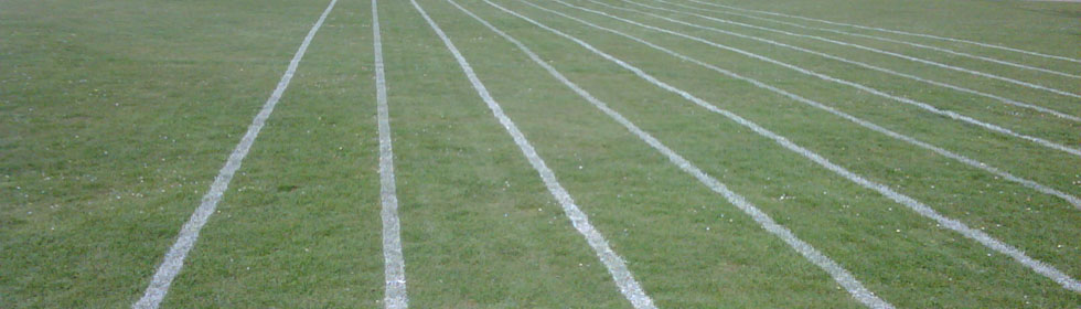 Athletic track line marking