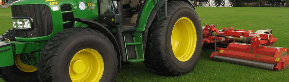 Tractors for mowing sports fields