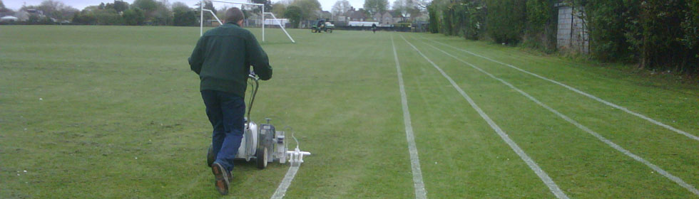 Sports field line marking services