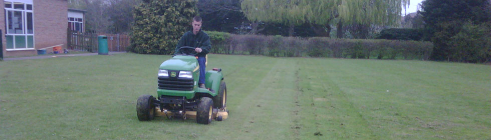 Ride on lawn mowing services for schools